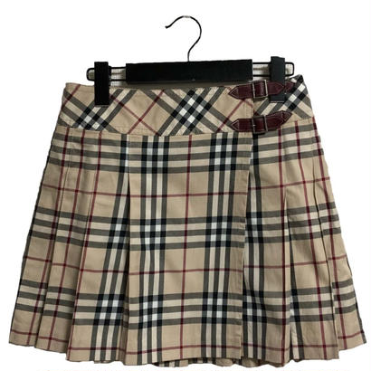 Burberry check pleats mini skirt