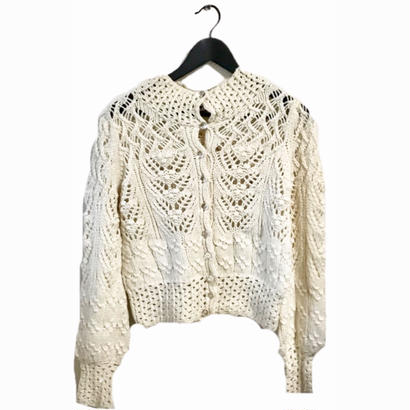 MARY QUANT cable knit cardigan