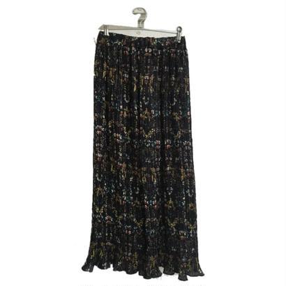 flower pleats pants