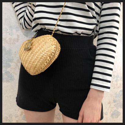 lib summer knit short pants black