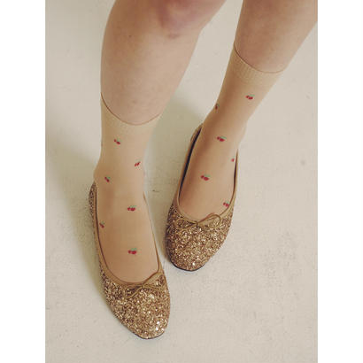 glitter gold ballet shoes