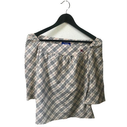Burberry check square blouse