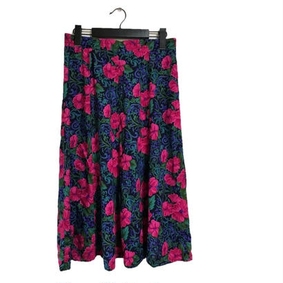 flower design flare skirt