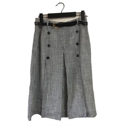 monotone gingham check design skirt