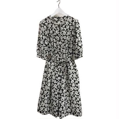 monotone flower one-piece
