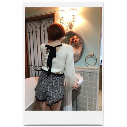 back ribbon lib knit off white