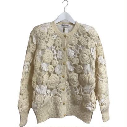 croche design knit ivory