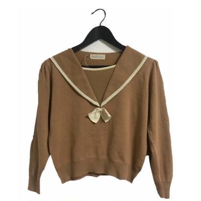 sailor design camel knit