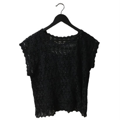 see-through  lace design tops
