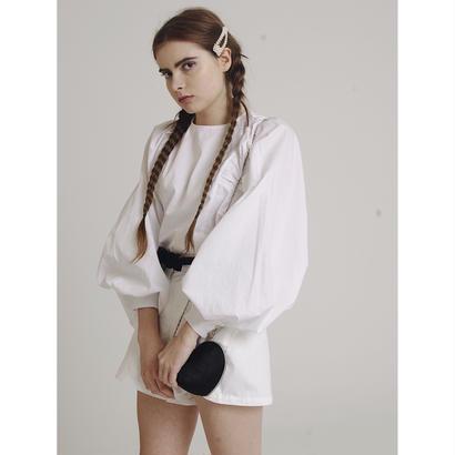 super arm volume blouse white