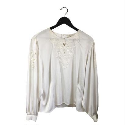 flower design satin blouse