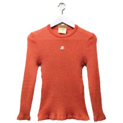 courrèges knit orange