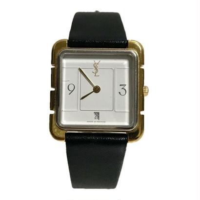 YSL square black belt Watch