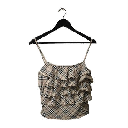 Burberry check design frill camisole