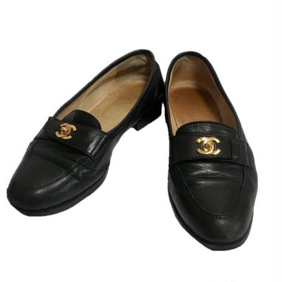 CHANEL coco buckle Loafer black