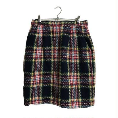 tweed  check mini skirt