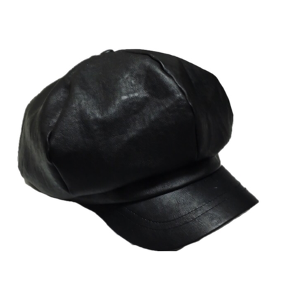 leather casquette