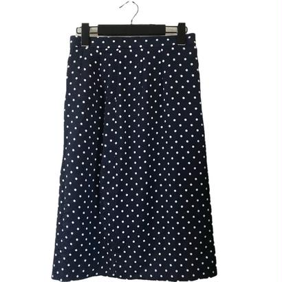dot navy skirt