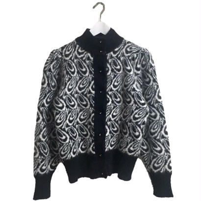 mohair marble knit cardigan