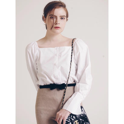 square neck 2way blouse