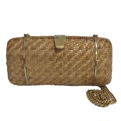 square basket chain bag