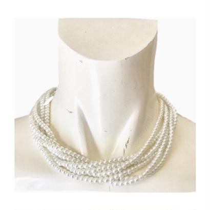 5chain pearl necklace