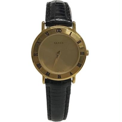 GUCCI gold frame design watch