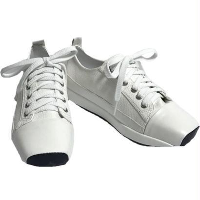 square toe white sneaker