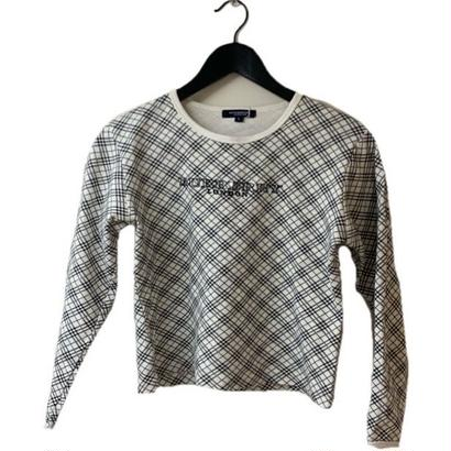 Burberry logo check design tops