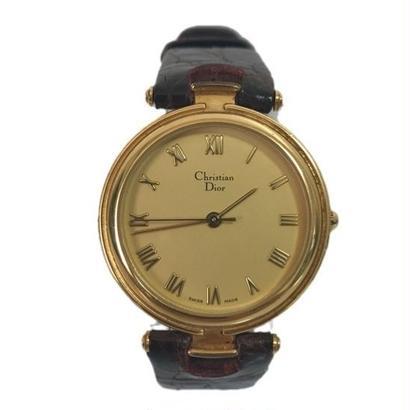 Dior brown belt gold Watch