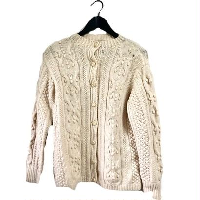 pon pon cable knit cardigan