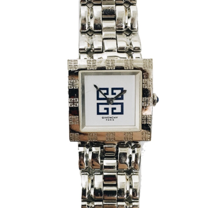 GIVENCHY square silver Watch
