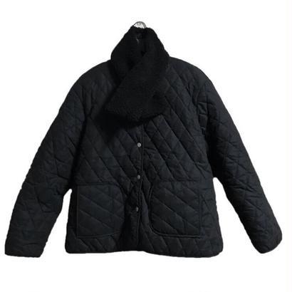 【スペシャルプライス】reversible 2way down boa coat muffler set black