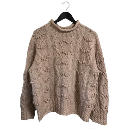 pon pon vintage knit dusty pink