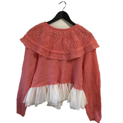 tulle frill design knit