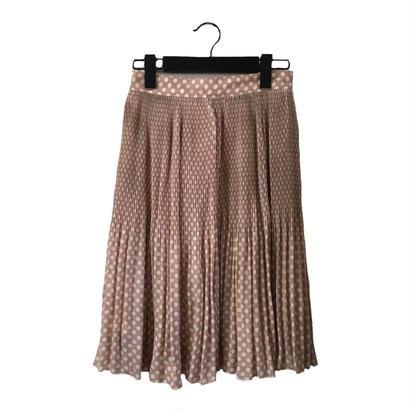 dot design pleats skirt