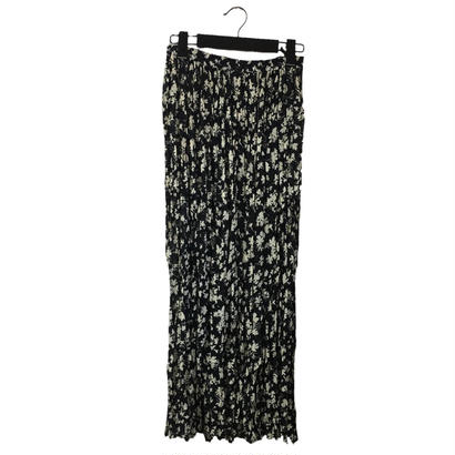 flower design pleats skirt