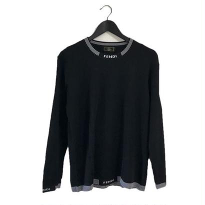 FENDI logo knit black