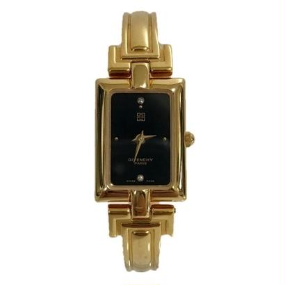GIVENCHY square design bangle watch
