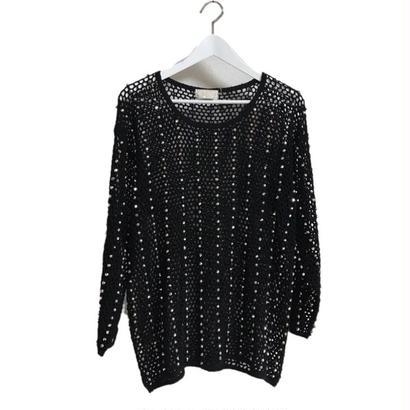 bijou see-through design knit