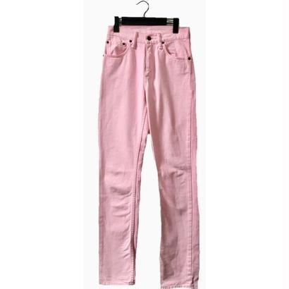 Levi's high-waist denim baby pink
