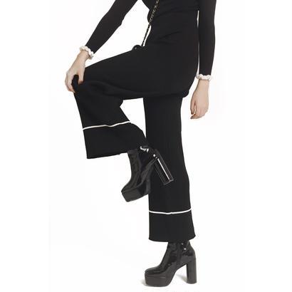 knit line boots cut pants