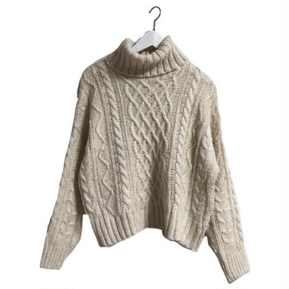 turtle neck cable knit
