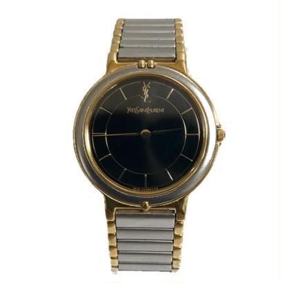 Yves Saint Laurent logo Watch black