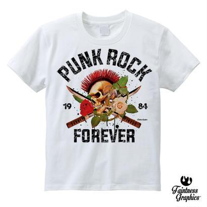 PUNK ROCK FOREVER  (スカルグラフィックTシャツ)