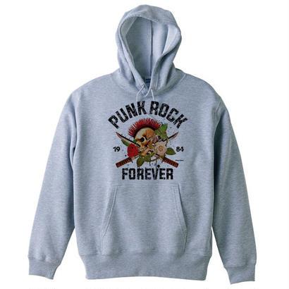 PUNK ROCK FOREVER (スカルグラフィックパーカー)