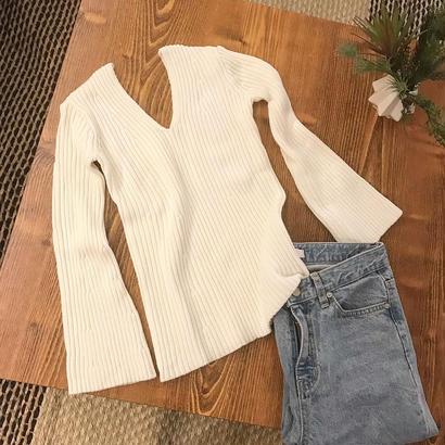 flare rib knit