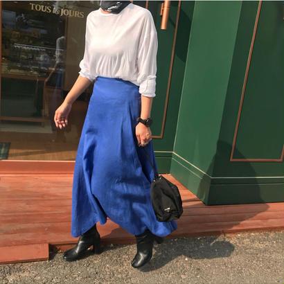 long linen free skirt