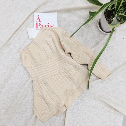 oneshoul knit