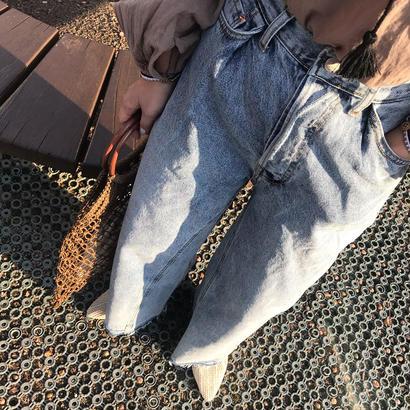 wide denim pants